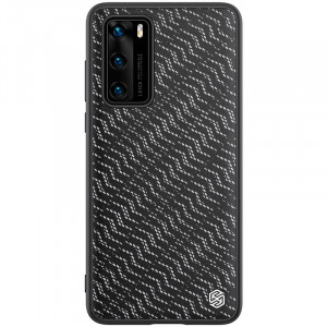 Nillkin Twinkle Silvery | Чехол с текстурной тканевой вставкой  для Huawei P40