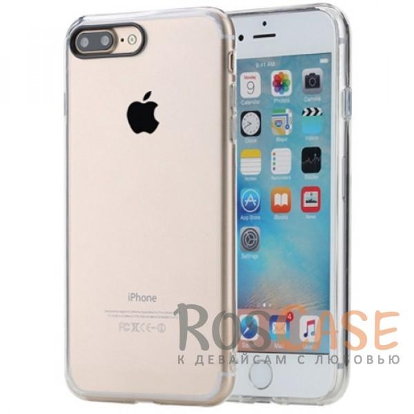 TPU+PC чехол Rock Pure Series для Apple iPhone 7 plus (5.5) (Бесцветный / Transparent)Описание:изготовлен компанией&amp;nbsp;Rock;совместим с Apple iPhone 7 plus (5.5);материалы  -  термополиуретан, поликарбонат;тип  -  накладка.&amp;nbsp;Особенности:ультратонкий;в наличии все функциональные вырезы;прозрачная;черная окантовка вокруг камеры для отсутствия блика от вспышки;не скользит в руках;рамка из поликарбоната;защита от царапин и ударов.<br><br>Тип: Чехол<br>Бренд: ROCK<br>Материал: TPU