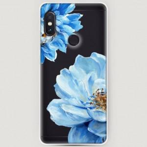 RosCase | Силиконовый чехол Голубые клематисы на Xiaomi Redmi Note 5 Pro / Note 5 (AI Dual Camera)