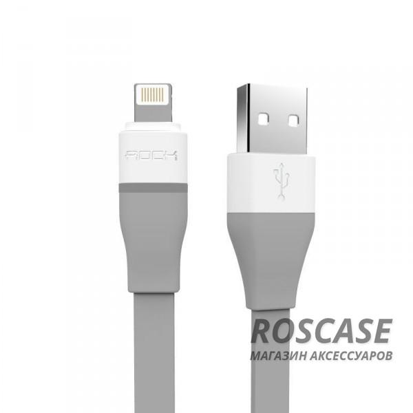 Кабель ROCK Lightning для iPhone 5/5s/5c/SE/6/6 Plus/6s/6s Plus /7/7 Plus (Led / Auto-disconnect) 1м (Серый / Grey)Описание:бренд&amp;nbsp;Rock;материал - TPE (термоэластопласт);тип&amp;nbsp; - &amp;nbsp;дата кабель;совместимость: Apple iPhone 5/5s/5c/SE/6/6 Plus/6s/6s Plus /7/7 Plus.Особенности:гибкий и пластичный;длина&amp;nbsp;кабеля - 100 см;разъемы&amp;nbsp; - &amp;nbsp;Lightning,&amp;nbsp;USB;индикатор LED;высокая скорость передачи данных;совмещает три в одном: синхронизация данных, передача данных, зарядка;устойчив к воздействию низких температур.<br><br>Тип: USB кабель/адаптер<br>Бренд: ROCK