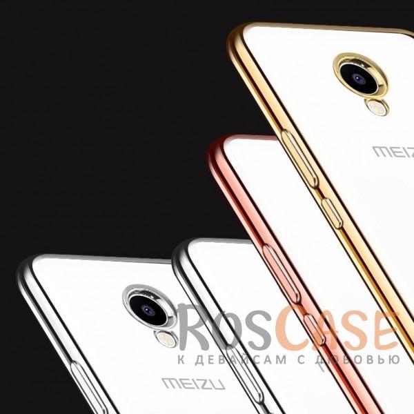 Фото Силиконовый чехол для Meizu M5 с глянцевой окантовкой