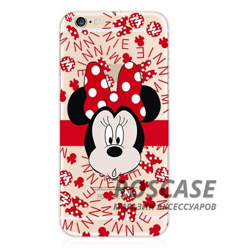 Тонкий силиконовый чехол с принтом Disney для Apple iPhone 6/6s (4.7) (Minnie Mouse)Описание:материал изделия: силикон;поверхность: фактурная;форм-фактор: накладка;совместимость: смартфон Apple iPhone 6/6s (4.7).Особенности:оригинальный дизайн;высокий уровень прочности и износостойкости;обладает хорошей гибкостью и эластичностью;не подвергается деформации.<br><br>Тип: Чехол<br>Бренд: Epik<br>Материал: TPU