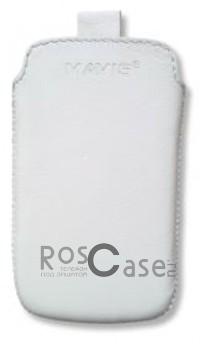 Фото кожаного чехла Mavis Classic 119 x 65 мм - цвет белый