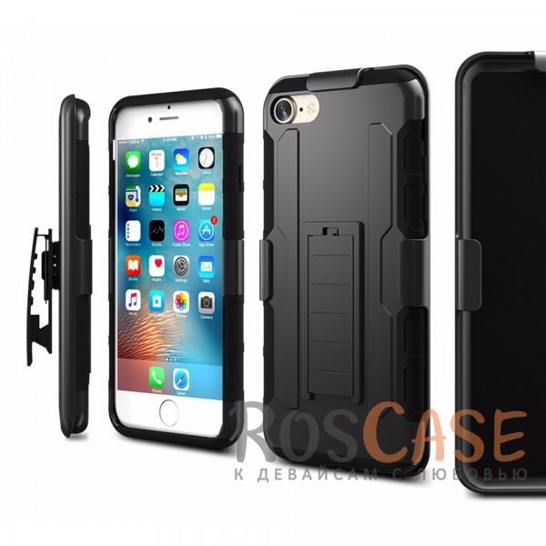 Антиударный чехол с тройной броней PANZER Apple iPhone 7 / 8 (4.7) с креплением на пояс и подставкойОписание:совместим с Apple iPhone 7 / 8 (4.7);материалы: поликарбонат, термополиуретан;тип: накладка на заднюю панель и на экран.&amp;nbsp;Особенности:ударопрочный;укрепленный корпус;функция подставки;крепление на пояс;защита на экран;имеет хорошее сцепление с поверхностями.<br><br>Тип: Чехол<br>Бренд: Epik<br>Материал: TPU
