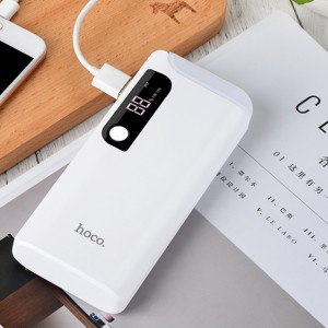 Hoco B27 | Компактное портативное зарядное устройство Power Bank с фонариком и экраном (15000 mAh) для Samsung Galaxy S9 Plus (G965F)