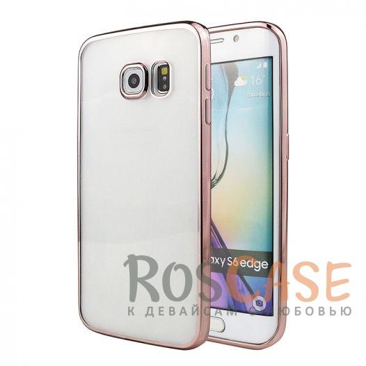 Прозрачный силиконовый чехол для Samsung G925F Galaxy S6 Edge с глянцевой окантовкой (Розовый)Описание:подходит для Samsung G925F Galaxy S6 Edge;материал - силикон;тип - накладка.Особенности:глянцевая окантовка;прозрачный центр;гибкий;все вырезы в наличии;не скользит в руках;ультратонкий.<br><br>Тип: Чехол<br>Бренд: Epik<br>Материал: Силикон