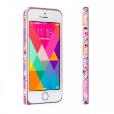 Lofter Cutie | Металлический бампер для Apple iPhone 5/5S/SE с рисунком зверушек