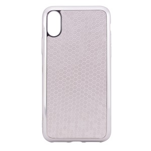 """Фактурный силиконовый чехол для Apple iPhone X (5.8"""")/XS (5.8"""") с глянцевой окантовкой"""