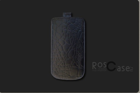 фото кожаный футляр Mavis Classic CROCODILE для Nokia X / X+ / Apple iPhone 3G/S