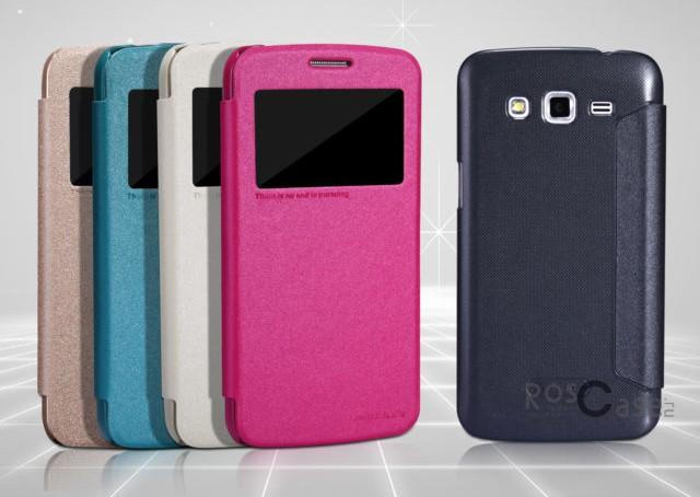 Кожаный чехол (книжка) Nillkin Sparkle Series для Samsung G7102 Galaxy Grand 2Описание:компания-производитель  -  Nillkin;создан специально для Samsung G7102 Galaxy Grand 2;материал  -  синтетическая кожа и пластик (поликарбонат);форм-фактор  -  чехол-книжка;высокий уровень прочности и стойкости к истиранию.Особенности:широкий выбор цветов;защищает смартфон с двух сторон;легко фиксируется;не требует особого ухода.<br><br>Тип: Чехол<br>Бренд: Nillkin<br>Материал: Искусственная кожа