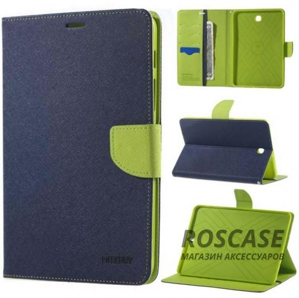 Чехол (книжка) Mercury Fancy Diary series для Samsung Galaxy Tab S2 9.7 (Синий / Зеленый)Описание:производитель  -  бренд&amp;nbsp;Mercury;совместим с Samsung Galaxy Tab S2 9.7;материалы  -  искусственная кожа, термополиуретан;форма  -  чехол-книжка.&amp;nbsp;Особенности:рельефная поверхность;все функциональные вырезы в наличии;внутренние кармашки;магнитная застежка;защита от механических повреждений;трансформируется в подставку.<br><br>Тип: Чехол<br>Бренд: Mercury<br>Материал: Искусственная кожа