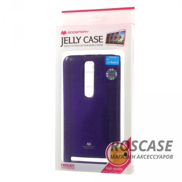 фото Фиолетовый TPU чехол Mercury Jelly Color series для Asus Zenfone 2 (ZE551ML/ZE550ML)
