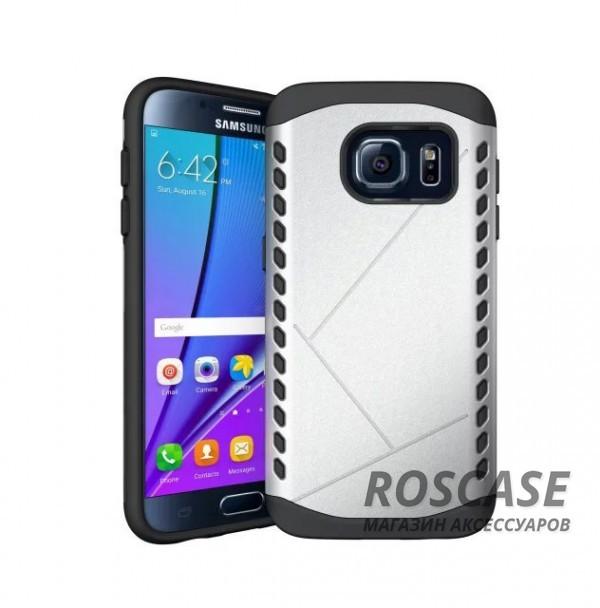 Противоударный защитный чехол Armor для Samsung G930F Galaxy S7 с усиленным прорезиненным бампером  (Серебряный)Описание:разработан с учетом особенностей&amp;nbsp;Samsung G930F Galaxy S7;материалы: термополиуретан, поликарбонат;формат: накладка.Особенности:защита от ударов;двойной корпус;не скользит в руках;усиленный бампер;присутствуют все необходимые вырезы.<br><br>Тип: Чехол<br>Бренд: Epik<br>Материал: TPU