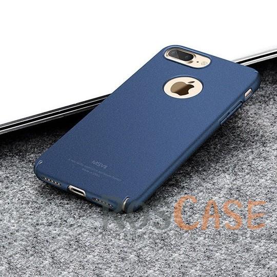 Тонкий матовый защитный чехол из пластика Msvii Quicksand с антискользящим покрытием для Apple iPhone 7 plus / 8 plus (5.5) (Синий)Описание:производитель - Msvii;совместим с Apple iPhone 7 plus / 8 plus (5.5);материал  -  пластик;тип  -  накладка.&amp;nbsp;Особенности:матовая поверхность;имеет все разъемы;тонкий дизайн не увеличивает габариты;накладка не скользит;защищает от ударов и царапин;износостойкая.<br><br>Тип: Чехол<br>Бренд: MSVII<br>Материал: Пластик