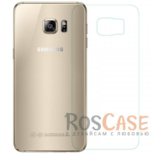 Антибликовое защитное стекло на заднюю панель с олеофобным покрытием анти-отпечатки для Samsung Galaxy S6 Edge PlusОписание:компания&amp;nbsp;Nillkin;создано для Samsung Galaxy S6 Edge;материал: закаленное стекло;тип: стекло с закругленными краями.&amp;nbsp;Особенности:повторяет форму задней панели;тонкое и прозрачное;покрытие анти-блик;закругленные края;твердость - 9H;толщина - &amp;nbsp;0,3 мм;защита от ударов и царапин;олеофобное покрытие;в комплекте пленка на экран и на камеру.<br><br>Тип: Защитное стекло<br>Бренд: Nillkin