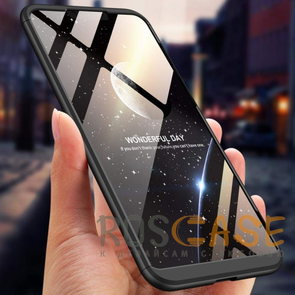Фото Черный GKK LikGus 360° | Двухсторонний чехол для Huawei Honor 8C с защитными вставками