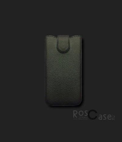 фото кожаный футляр Mavis Classic (BJ) 119x66/130x68 для HTC 400/Samsung i8262