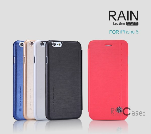 Кожаный чехол (книжка) Nillkin Rain Series для Apple iPhone 6/6s (4.7) (+ пленка)Описание:производитель  -  компания&amp;nbsp;Nillkin;совместимость - Apple iPhone 6/6s (4.7);материалы  -  искусственная кожа, поликарбонат;форма  -  чехол-книжка.&amp;nbsp;Особенности:в наличии все функциональные вырезы;надежная система крепления;тонкий и легкий;пленка в комплекте;защита от ударов и царапин;необычный дизайн.<br><br>Тип: Чехол<br>Бренд: Nillkin<br>Материал: Искусственная кожа