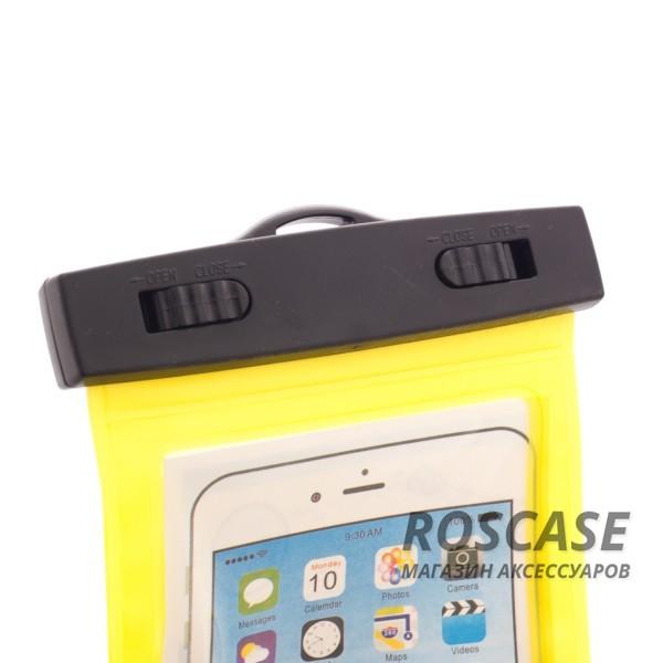 Водонепроницаемый пластиковый чехол для телефона 3.5-5.5 дюйма (Желтый)