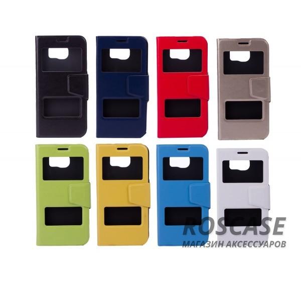 Чехол-обложка с окном для экрана и функцией трансформации в подставку для Samsung Galaxy S6 G920F/G920D DuosОписание:компания разработчик: Epik;совместимость с устройством модели: Samsung Galaxy S6 G920F/G920D Duos;материал изделия: термополиуретан и синтетическая кожа;конфигурация: обложка в виде книжки.Особенности:двусторонняя защита устройства;высокий класс износоустойчивости;выполняет функцию подставки;смотровое окошко.<br><br>Тип: Чехол<br>Бренд: Epik<br>Материал: Искусственная кожа