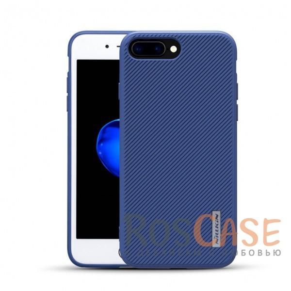 Тонкая пластиковая ребристая накладка с защитой кнопок для Apple iPhone 7 plus / 8 plus (5.5) (Синий)Описание:аксессуар от компании&amp;nbsp;Nillkin;произведен для Apple iPhone 7 plus / 8 plus (5.5);материалы - термополиуретан, поликарбонат;ультратонкий дизайн;свойство анти-отпечатки;защита камеры от царапин;в корпус встроена металлическая пластина.<br><br>Тип: Чехол<br>Бренд: Nillkin<br>Материал: Пластик