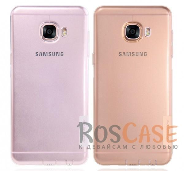 TPU чехол Nillkin Nature Series для Samsung Galaxy C5Описание:бренд&amp;nbsp;Nillkin;совместимость - Samsung Galaxy C5;материал  -  термополиуретан;тип  -  накладка.&amp;nbsp;Особенности:в наличии все вырезы;не скользит в руках;тонкий дизайн;защита от ударов и царапин;прозрачный;заглушки на отверстие для зарядки и для наушников.<br><br>Тип: Чехол<br>Бренд: Nillkin<br>Материал: TPU