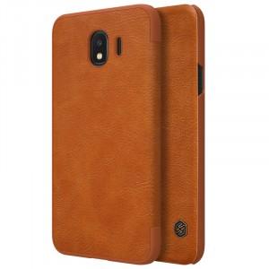 Nillkin Qin натур. кожа   Чехол-книжка для Samsung J400F Galaxy J4 (2018)