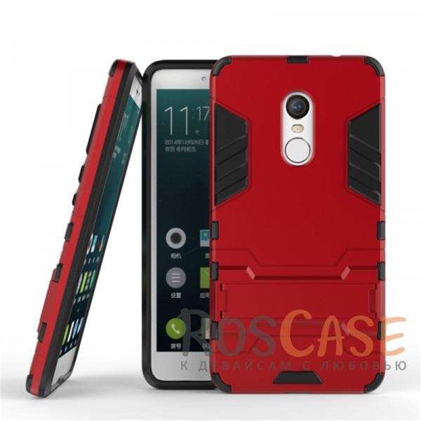 Ударопрочный чехол-подставка Transformer для Xiaomi Redmi Note 4 с мощной защитой корпуса (Красный / Dante Red)Описание:подходит для Xiaomi Redmi Note 4;материалы: термополиуретан, поликарбонат;формат: накладка.&amp;nbsp;Особенности:функциональные вырезы;функция подставки;двойная степень защиты;защита от механических повреждений;не скользит в руках.<br><br>Тип: Чехол<br>Бренд: Epik<br>Материал: TPU