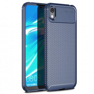 Силиконовый матовый чехол с текстурой Карбон  для Huawei Honor 8S