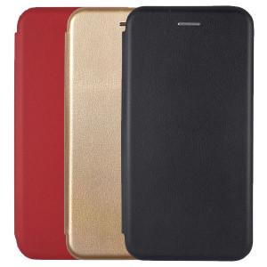 Open Color | Кожаный чехол-книжка для Samsung Galaxy J7 (2018) с функцией подставки и магнитом