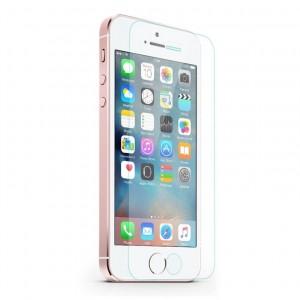 Прозрачное защитное стекло с закругленными краями и олеофобным покрытием для Apple iPhone 5/5S/SE