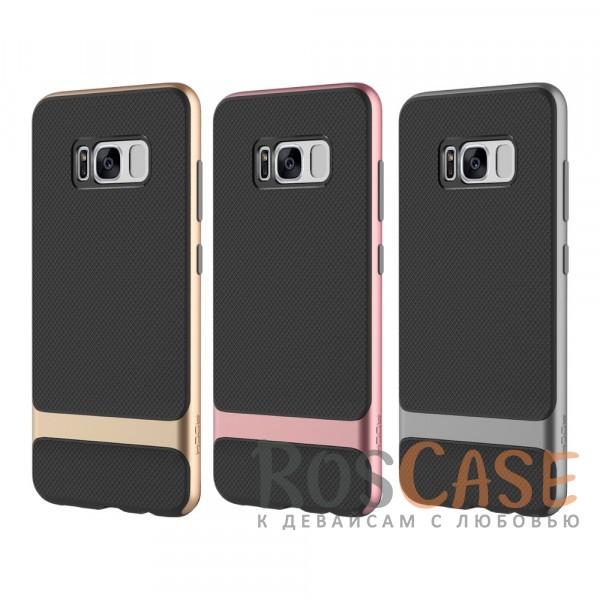 Двухслойный чехол для Samsung G955 Galaxy S8 PlusОписание:производитель -&amp;nbsp;Rock;совместим с Samsung G955 Galaxy S8 Plus;материалы - термополиуретан, поликарбонат;двухслойная конструкция;защищает от ударов;на накладке не заметны отпечатки пальцев;дублирующие клавиши защищают кнопки;защита камеры от царапин.<br><br>Тип: Чехол<br>Бренд: ROCK<br>Материал: TPU