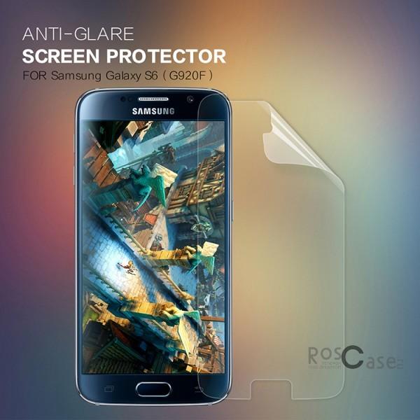 Защитная пленка Nillkin для Samsung Galaxy S6 G920F/G920D DuosОписание:бренд:&amp;nbsp;Nillkin;совместима с Samsung Galaxy S6 G920F/G920D Duos;материал: полимер;тип: матовая.&amp;nbsp;Особенности:все необходимые функциональные вырезы;антибликовое покрытие;не влияет на чувствительность сенсора;легко очищается;не бликует на солнце.<br><br>Тип: Защитная пленка<br>Бренд: Nillkin