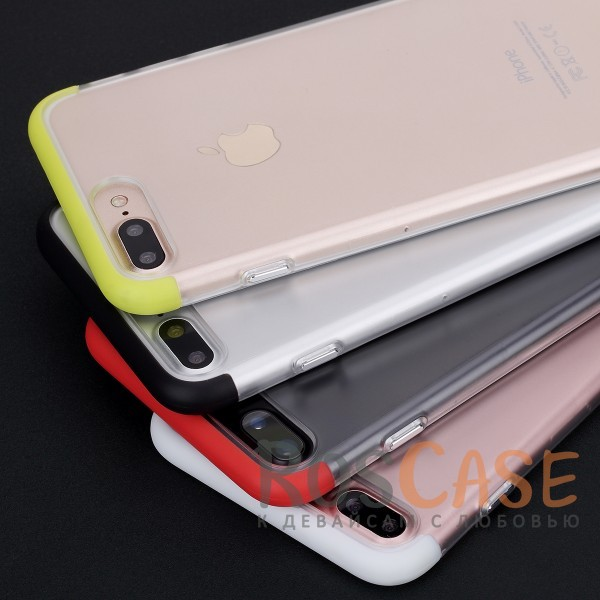 TPU+PC чехол Rock Cheer Series для Apple iPhone 7 plus (5.5)Описание:компания&amp;nbsp;Rock;материалы: термополиуретан, поликарбонат;совместимость: Apple iPhone 7 plus (5.5);тип: накладка.<br><br>Тип: Чехол<br>Бренд: ROCK<br>Материал: TPU