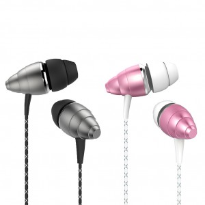GOLF M5 | Вакуумные наушники в алюминиевом корпусе на пульте с микрофоном