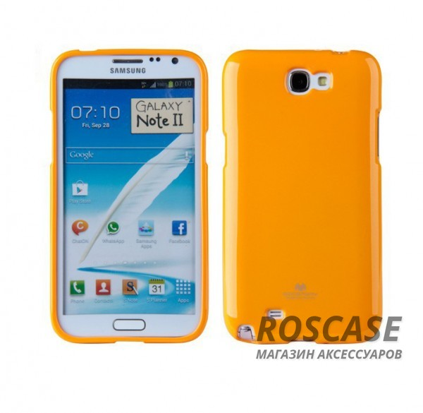 фото Желтый TPU чехол Mercury Jelly Color series для Samsung N7100 Galaxy Note 2