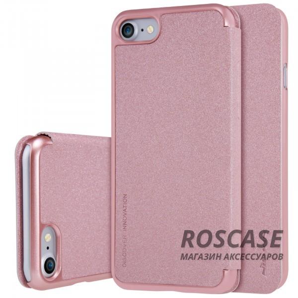 Кожаный чехол (книжка) Nillkin Sparkle Series для Apple iPhone 7 (4.7) (Розовый / Rose Gold)Описание:производитель -&amp;nbsp;Nillkin;разработан для Apple iPhone 7 (4.7);материал - искусственная кожа, поликарбонат;тип - чехол-книжка.Особенности:блестящая поверхность;защита от царапин и ударов;тонкий дизайн;защита со всех сторон;не скользит в руках.<br><br>Тип: Чехол<br>Бренд: Nillkin<br>Материал: Искусственная кожа