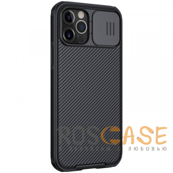 Изображение Черный Nillkin CamShield Pro   Чехол из пластика и TPU с защитой камеры для магнитной зарядки для iPhone 12 Pro Max