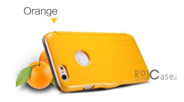 Кожаный чехол (книжка) Nillkin Fresh Series для Apple iPhone 6/6s plus (5.5) (Желтый)Описание:Изготовлен компанией&amp;nbsp;Nillkin;Спроектирован персонально для&amp;nbsp;Apple iPhone 6/6s plus (5.5);Материал: синтетическая высококачественная кожа и полиуретан;Форма: чехол в виде книжки.Особенности:Исключается появление царапин и возникновение потертостей;Восхитительная амортизация при любом ударе;Фактурная поверхность;Не подвержен деформации;Непритязателен в уходе.<br><br>Тип: Чехол<br>Бренд: Nillkin<br>Материал: Искусственная кожа
