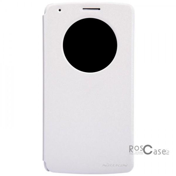 Кожаный чехол (книжка) Nillkin Sparkle Series для LG D855/D850/D856 Dual G3 (Белый)Описание:Изготовлен компанией Nillkin;Спроектирован персонально для LG D855/D850/D856 Dual G3;Материал: синтетическая кожа и поликарбонат;Форма: чехол в виде книжки.Особенности:Исключается появление царапин и возникновение потертостей;Восхитительная амортизация при любом ударе;Фактурная поверхность;Удобное интерактивное окошко;Не подвергается деформации;Непритязателен в уходе.<br><br>Тип: Чехол<br>Бренд: Nillkin<br>Материал: Искусственная кожа