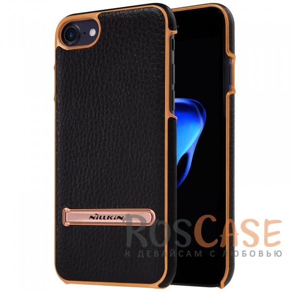 Кожаная накладка с подставкой Nillkin M-Jarl Series для Apple iPhone 7 (4.7) (Черный)Описание:производитель  - &amp;nbsp;Nillkin;разработан для Apple iPhone 7 (4.7);материалы  -  искусственная кожа, металл;тип  -  накладка.&amp;nbsp;Особенности:элегантный дизайн;в наличии функциональные вырезы;не видны отпечатки пальцев;металлическая окантовка;защищает от царапин и падений;функция подставки.<br><br>Тип: Чехол<br>Бренд: Nillkin<br>Материал: Искусственная кожа