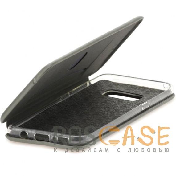 Фотография Черный Open Color 2 | Чехол-книжка на магните для Samsung Galaxy S10+ с подставкой и внутренним карманом