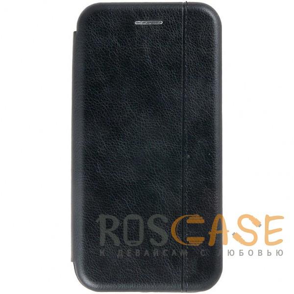 Open Color 2 | Чехол-книжка на магните для Huawei Honor 8X с подставкой и внутренним карманом (Черный)