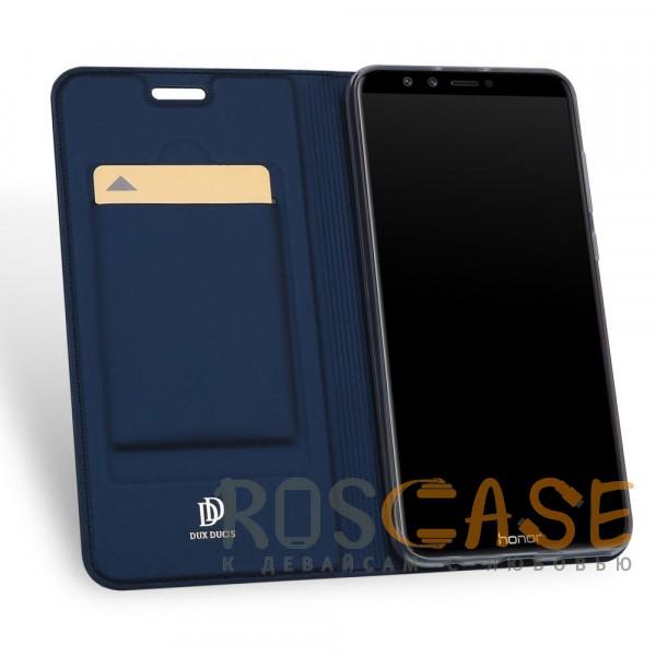 Фотография Синий Dux Ducis | Чехол-книжка для Huawei Honor 9 Lite с функцией подставки и картхолдером