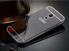 Металлический бампер для Meizu Pro 6 с зеркальной вставкой