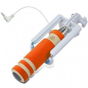 Телескопический Mini монопод для селфи (кабель 3,5) (13.8см - 48см)