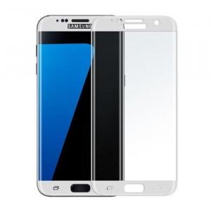 Защитное стекло с цветной рамкой на весь экран  для Samsung Galaxy S7 Edge (G935F)