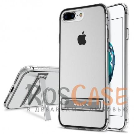 Прозрачный силиконовый чехол с подставкой и усиленной защитой углов для Apple iPhone 7 plus / 8 plus (5.5)Описание:компания  - &amp;nbsp;Nillkin;совместим с Apple iPhone 7 plus / 8 plus (5.5);материал  -  термополиуретан;формат  -  накладка.&amp;nbsp;Особенности:выступы над экраном и камерой;ударопрочный;функция подставки;защита от ударов, пыли и царапин;прозрачный.<br><br>Тип: Чехол<br>Бренд: Nillkin<br>Материал: TPU