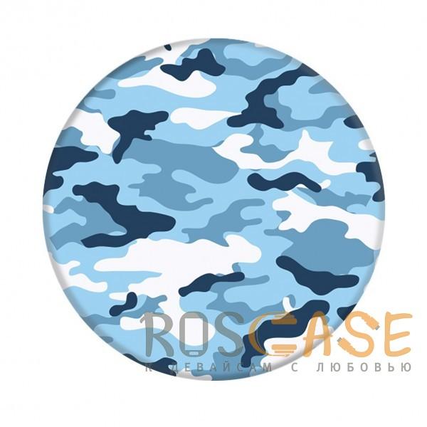 Фото Защитный голубой Складная подставка-держатель Попсокет с необычными изображениями