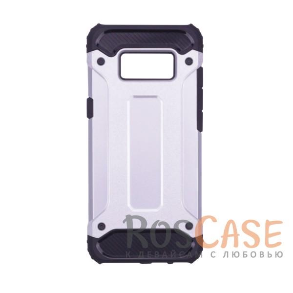 Противоударный двухкомпонентный чехол с дополнительной защитой углов для Samsung G950 Galaxy S8 (Серебряный)Описание:ударопрочный чехол;спроектирован специально для Samsung G950 Galaxy S8;защищает заднюю панель гаджета и боковые грани;приподнятые бортики защищают экран от царапин;конструкция из двух материалов - термополиуретана и поликарбоната;предусмотрены все необходимые вырезы;не скользит в руках;формат - накладка.<br><br>Тип: Чехол<br>Бренд: Epik<br>Материал: TPU